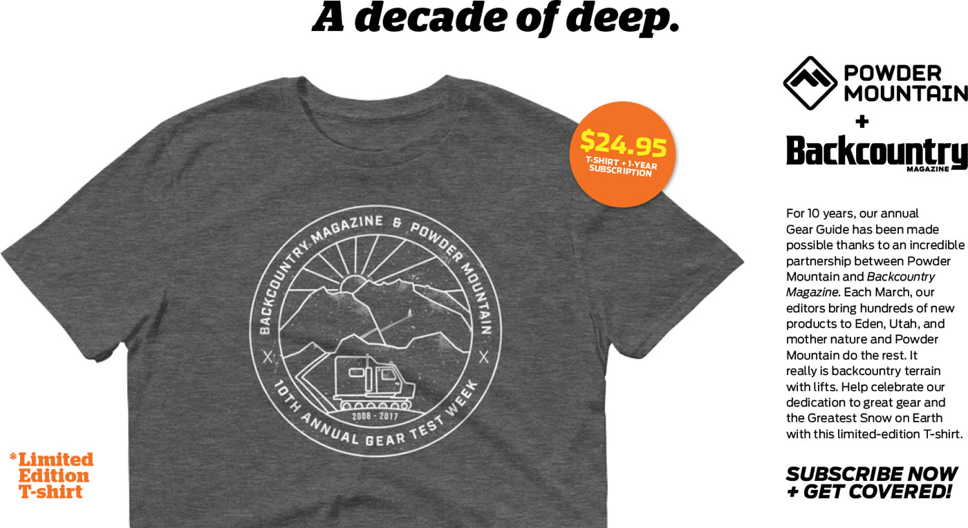 A Decade of Deep: Subscribe to Backcountry and Get a Limited-Edition Powder Mountain X Backcountry T-shirt