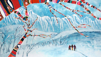 Skintrack Sketches: Artist Dawn Gerety paints her love of Alaska and the Chugach Mountains