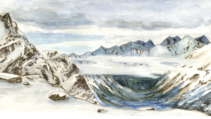 Skintrack Sketches: Artist Emma Longcope paints the public lands she protects by day