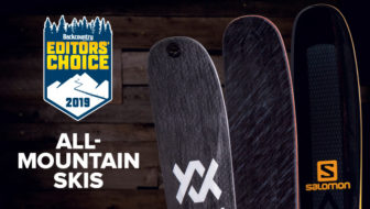 2019 Editors' Choice Awards: All-Mountain Skis