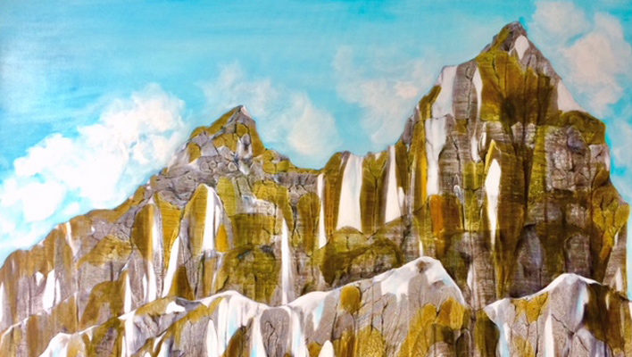 Skintrack Sketches: Artist Lindsay Dew counts on memory to create mountainscapes