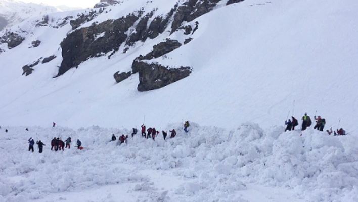 Inbounds avalanche at Swiss resort claims the life of a ski patroller