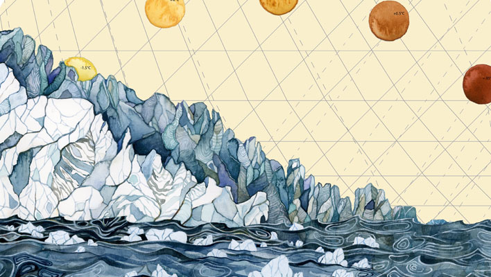 Skintrack Sketches: Artist Jill Pelto documents climate change through watercolor