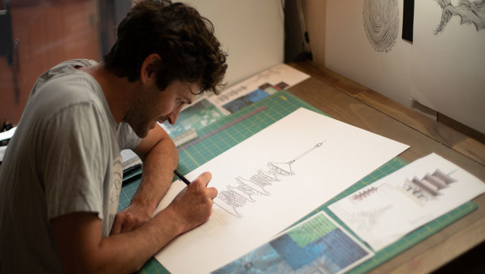 Skintrack Sketches: How Eric Pollard balances art and professional skiing