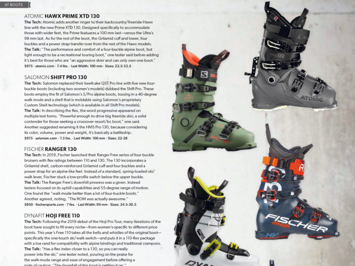 The years best ski boots reviewed!