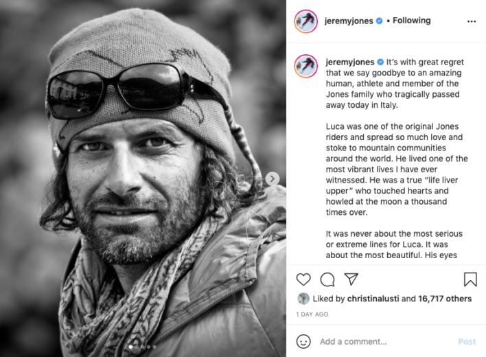 Renowned Snowboarder Luca Pandolfi Dies in Avalanche